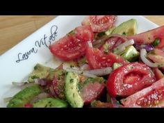 Tomato and Avocado Salad Recipe - Laura in the Kitchen - Internet Cooking Show Starring Laura Vitale