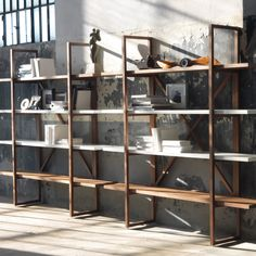 librerias madera y hierro - Buscar con Google