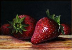 Fresh Strawberries -- Paul Wolber Acrylic