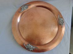 Flemish Copper Charger Plate Tray Pewter Applied by MemmoryAlley, $77.00