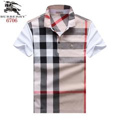 Burberry polos t-shirts, short sleeve cotton tops, brand shop Shirts For Teens, Boys Shirts, Tee Shirts, Collar Shirts, Mens Polo T Shirts, Polo Shirt, Polo Design, Moda Casual, Camisa Polo