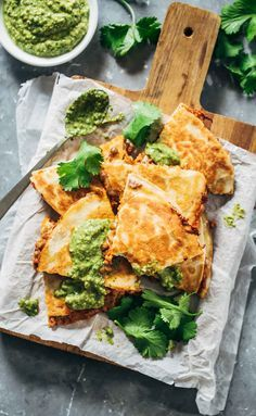Quick & Easy Lentil Quesadillas recipe! With a spicy lentil and brown rice filling and lots of melted cheese. Easy, crockpot friendly, vegetarian! | pinchofyum.com
