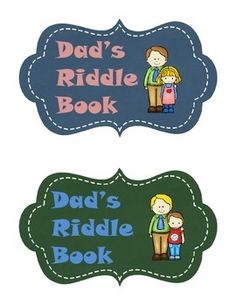 A unique gift for children to share with their dad on Father's Day.This riddle book will give dad a laugh for the day and will allow him to spend quality time with his children. I have arranged it so that you get two books with each printing. Just cut in the middle after printing.