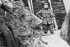 December 1916, picture taken after the first major snowfall on the Somme had melted, flooding the trenches. This particular trench was close to the village of Hebuterne and on the left of the image flexible tubing is visible which was part of a British trench pump system. Image from a small collection relating to the 11th Battalion East Yorkshire Regiment. greatwarphotos.com, by Paul Reed