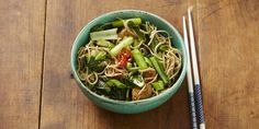 I Quit Sugar recipe - Choy Sum + Soba Noodles with Chicken.