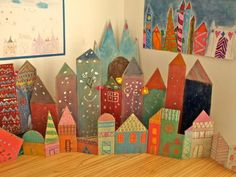 Arts And Crafts Style House Projects For Kids, Diy For Kids, Art Projects, Crafts For Kids, Arts And Crafts, Paper Crafts, Paper Toy, Atelier D Art, Ecole Art