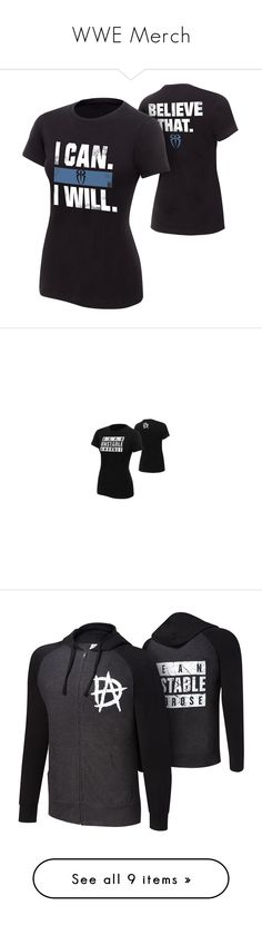 """WWE Merch"" by harley-quinn29 ❤ liked on Polyvore featuring tops, t-shirts, wwe, classic fit shirt, classic fit t shirt, cotton tee, tee-shirt, t shirts, dean ambrose and hoodies"