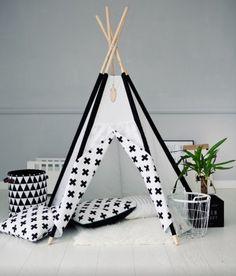 Black and White Tipi