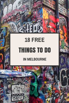 Check out this 18 free things to do in Melbourne Australia.