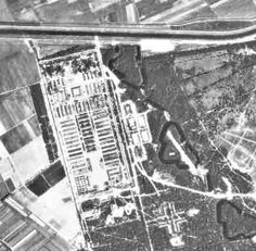 1944 arial photo of concentration camp Herzogenbusch (camp Vught).