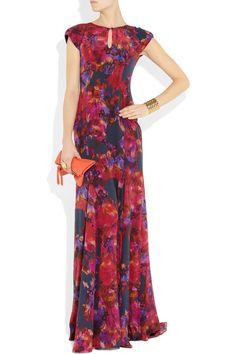 Erdem|Lucietta floral-print silk crepe de chine gown