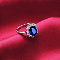 Graceful Classic Design Sapphire Crystal Ring for Women: BagsQ.com #Fashion #Cheap #Rings