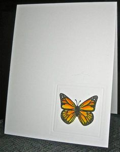 Monarch Butterfly in an embossed square