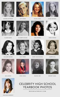 17 high school photos of your favorite celebrities.