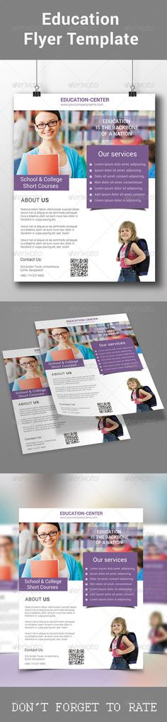 Education Flyer Template PSD   Buy and Download: http://graphicriver.net/item/education-flyer-template/8551381?WT.ac=category_thumb&WT.z_author=redwanulhaque&ref=ksioks
