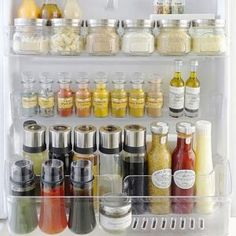 Kitchen Peninsula, Kitchen Cupboards Redo – Over The Refrigerator Ideas, Fridge … – pantry redo Fridge Organisers, Fridge Storage, Refrigerator Organization, Corner Storage, Organized Fridge, Closet Storage, Kitchen Storage, Organisation Hacks, Craft Organization