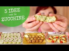 ZUCCHINE 3 Idee Facili - Ricetta Polpette di Zucchine - Rotolo di Zucchine - Cornetti di Zucchine - YouTube Keto Recipes, Cooking Recipes, Healthy Recipes, Savory Muffins, Chicken Bites, Tasty, Yummy Food, Finger Foods, Family Meals