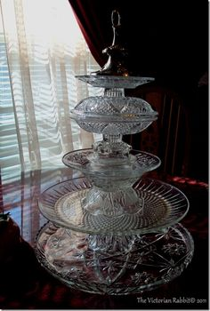 Glass Tier CupCake Stand cookie-cupcake-decorating foodstuff-i-love