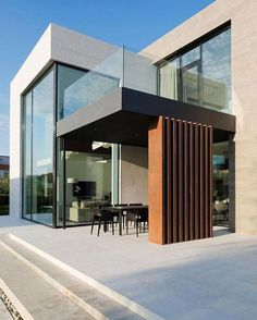 Alexandra Fedorova Designs an Elegant Contemporary House in Pestovo, Russia - Arquitectura Diseno Architecture Durable, Modern Architecture House, Modern House Design, Architecture Design, Classical Architecture, Ancient Architecture, Sustainable Architecture, Landscape Architecture, Contemporary Design