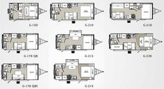 micro floor plans   Palomino Gazelle micro-lite travel trailer floorplans - large picture