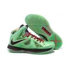 buy popular 83005 6193f 541100-300 Nike LeBron X+ Cutting Jade Seaweed Atomic Green Hasta G07004  Nike Shoes,