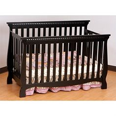 Stork Craft Venetian 4-in-1 Fixed Side Convertible Crib, Black  http://www.babystoreshop.com/stork-craft-venetian-4-in-1-fixed-side-convertible-crib-black/
