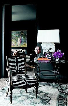 The Decorista-Domestic Bliss: Wallcolor Wednesday: black on black on black