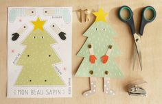 Imprimible: muñequito articulado de árbol de Navidad >> yumicha: Mon beau sapin
