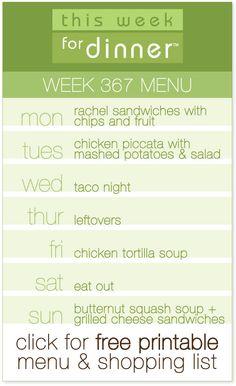 weekly meal plan from @AbdulAziz Bukhamseen Week for Dinner + free printable menu and shopping list