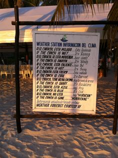 sign on the beach in isla mujeres