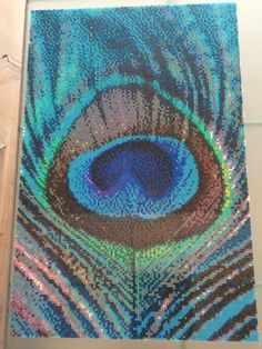 Oh my goodness!! What a lot of work and patience!!--Hama peacock