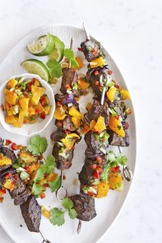 Broiled Steak Kabobs With Orange Relish  - CountryLiving.com