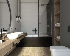 Nowoczesna łazienka z wanną z prysznicem Bathroom Design Inspiration, Bad Inspiration, Clawfoot Bathtub, Bathroom Interior, Girls Bedroom, Sweet Home, Indoor, House, Furniture