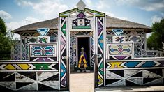 ndebele houses - Google Search Geometric Artwork, South African Artists, Environmental Art, Art Google, Art Inspo, Photo Greeting Cards, Photo Puzzle, Canvas Prints, Culture