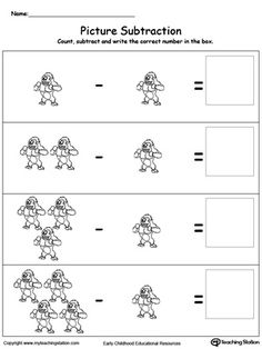 Subtraction Basics Using Pictures: Introduce subtraction basics with pictures, making it fun and easy for preschoolers to understand.