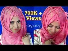 Criss Cross Hijab Tutorial With Flowerpin    Easy To Wear!! Safrin Prity - YouTube