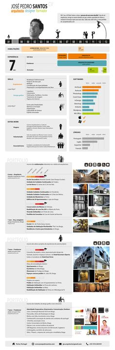 José Pedro Santos #Visual_Resume #Portfolio #Infographic #Architect #Designer #Portuguese