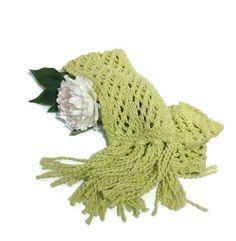 Dusty Sage Scarf Hand Knit Scarf Knit Scarf by ArlenesBoutique $40.00 #scarf #knitscarf