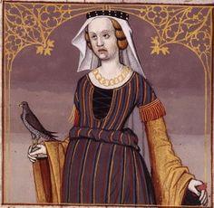 LIV-Megullia Dotata (MEGULLIA Dotata, Roman noblewoman) -- Giovanni Boccaccio (1313-1375), Le Livre des cleres et nobles femmes, v. 1488-1496, Cognac (France), traducteur anonyme. -- Illustrations painted by Robinet Testard -- BnF Français 599 fol.  48