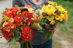 organic bridesmaid bouquets