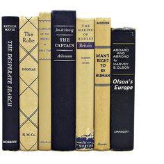 Navy Blue Books, Beige Book Set, Shabby Chic Book Decor, Wedding... ($40) ❤ liked on Polyvore featuring books, fillers y home