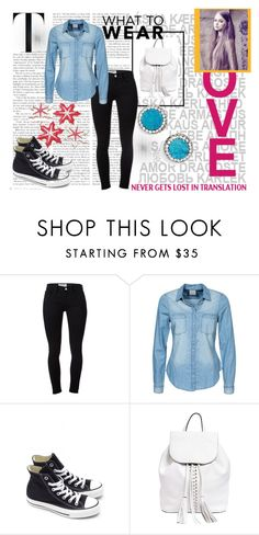 """""""For school"""" by ajmalina ❤ liked on Polyvore featuring Frame Denim, Vero Moda, Converse, Rebecca Minkoff, Panacea, women's clothing, women, female, woman and misses"""