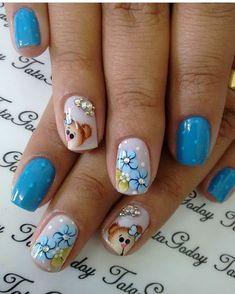 Orange Nail Designs, French Nail Designs, Cute Nail Designs, Cute Nail Art, Nail Art Diy, Cute Nails, Diy Nails, Nail Swag, Flower Nails