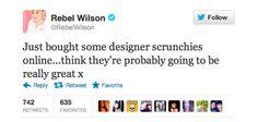 Rebel Wilson Brags About Her Designer Scrunchies
