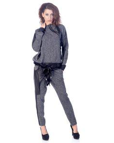 Nelita Hooded Jumper & Tapered Leg Pants Set Made In Europe