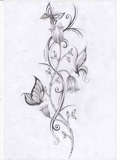 flower vine tattoos - Google Search