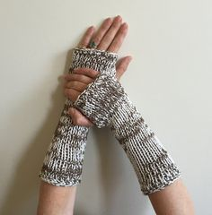 Fingerless Gloves, Beige Brown Hand Warmer, Arm Warmers, Game of Thrones Fingerless Gloves Mittens Claire Outlander Hunger Games Inspired by SimonKnits on Etsy