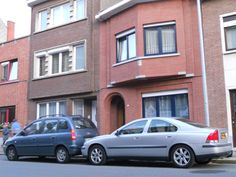 Our house in Louvain, Belgium (with my Volvo in the front)