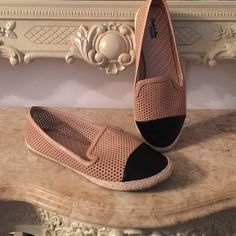 Charlotte russe perforated flats tan black NWOT • Brand : Charlotte Russe • Size : 9  • Conditions : New without tag No fades holes or stains. • All sale are final No Refund or exchange • All item comes from a pet and smoke free home. • Thanks for viewing my listing! Charlotte Russe Shoes Flats & Loafers