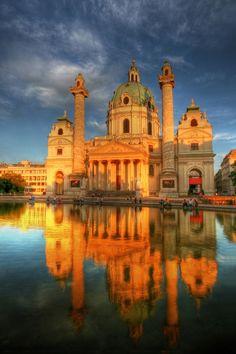 Karlskirche - Vienna, Austria Europe  #viennatravel #lovinglife #scarlettsuccess
